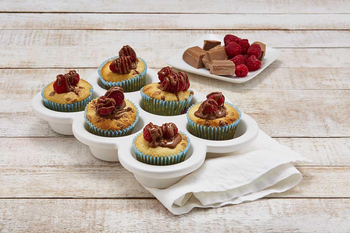 Cupcakes de frambuesa con chocolate
