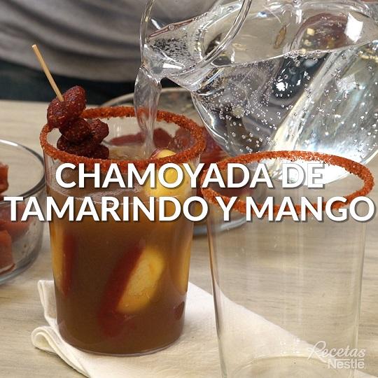 Chamoyada de tamarindo y mango