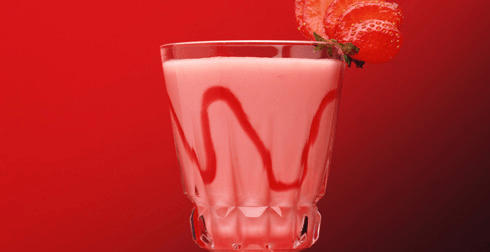 Smoothie de frutas rojas