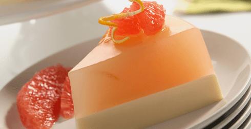 Gelatina fresca de toronja