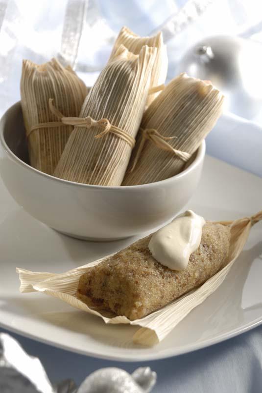 Tamales de choco plátano