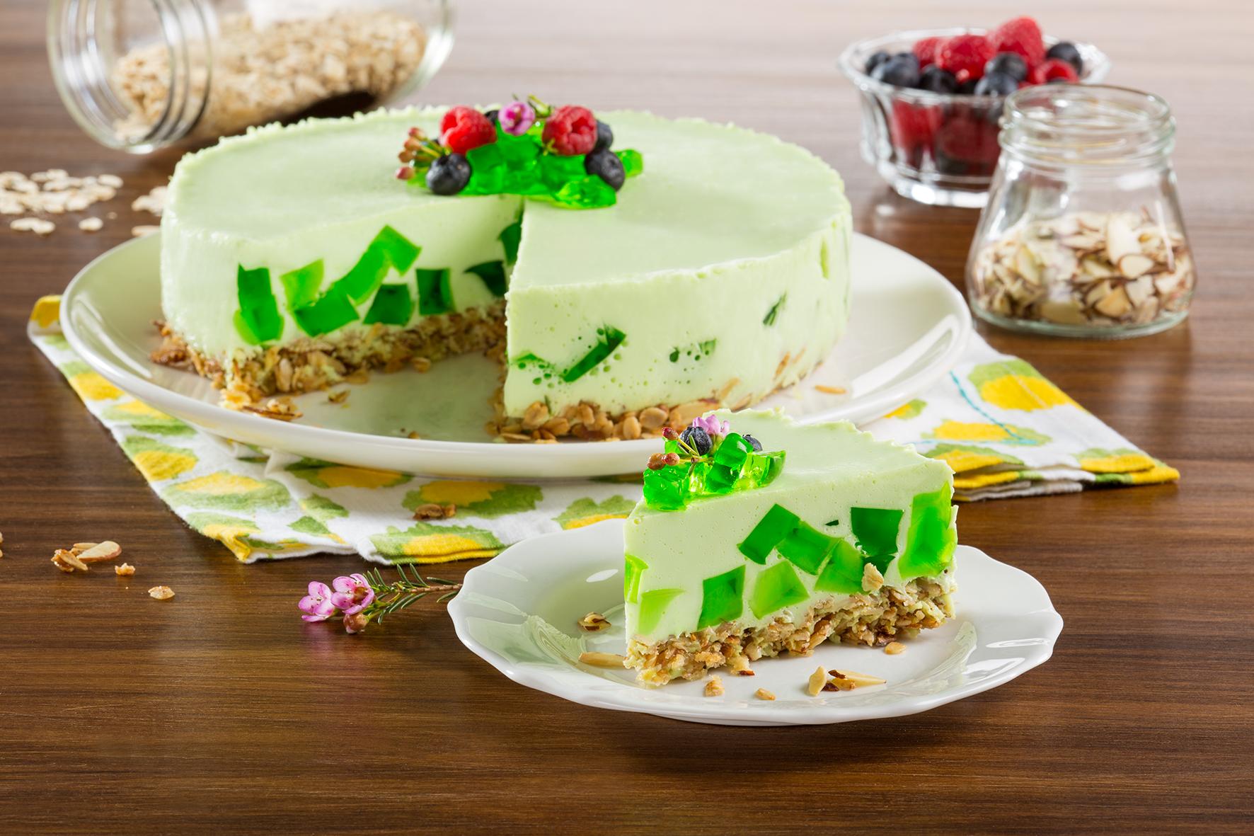 Cheesecake verde limón