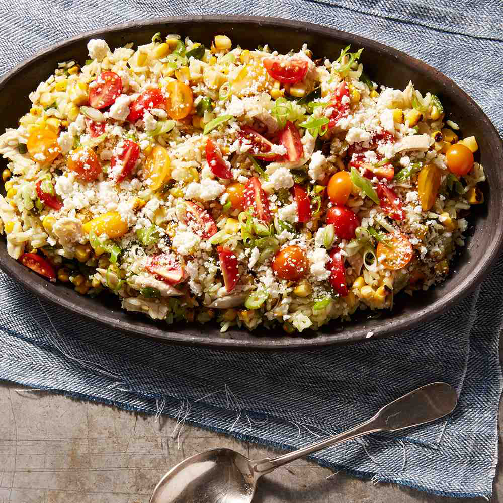 Poblano Corn and Chicken Salad