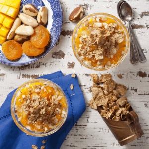 Crema de mango y durazno