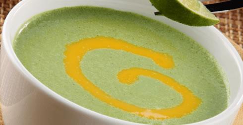 Sopa fría de berros y limón