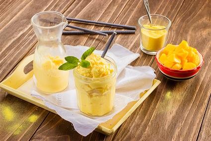 Frappé de mango y vainilla Nesquik