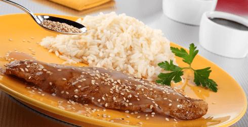 Filetes de trucha con salsa de soya