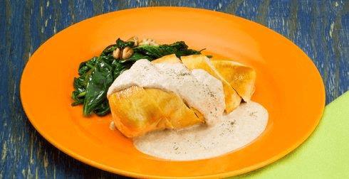 Pechugas de pollo en salsa de nuez