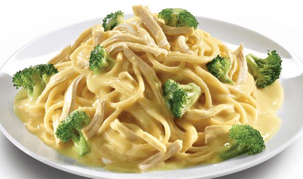 Spaghetti en salsa de mostaza