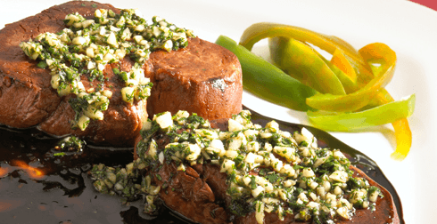 Carne con chimichurri