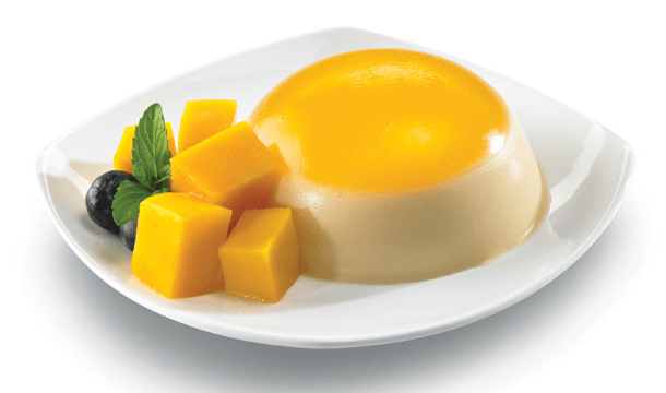 Gelatina de mango con queso