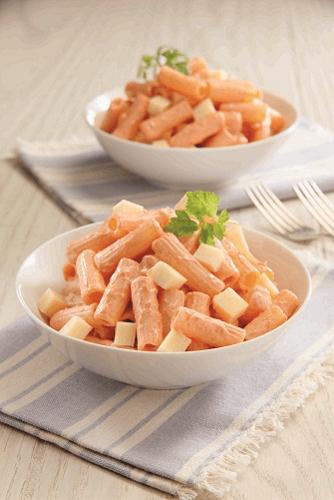 Macarrones en salsa de chipotle y parmesano
