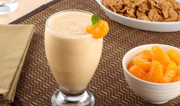 Batido de miel y mandarina
