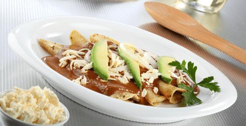 Enchiladas de dos chiles