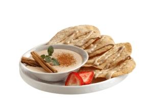 Buñuelos con salsa de canela y vainilla