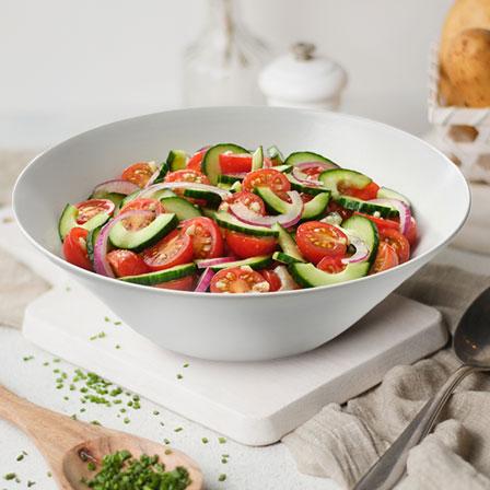 Cucumber & Tomato Vinaigrette Salad