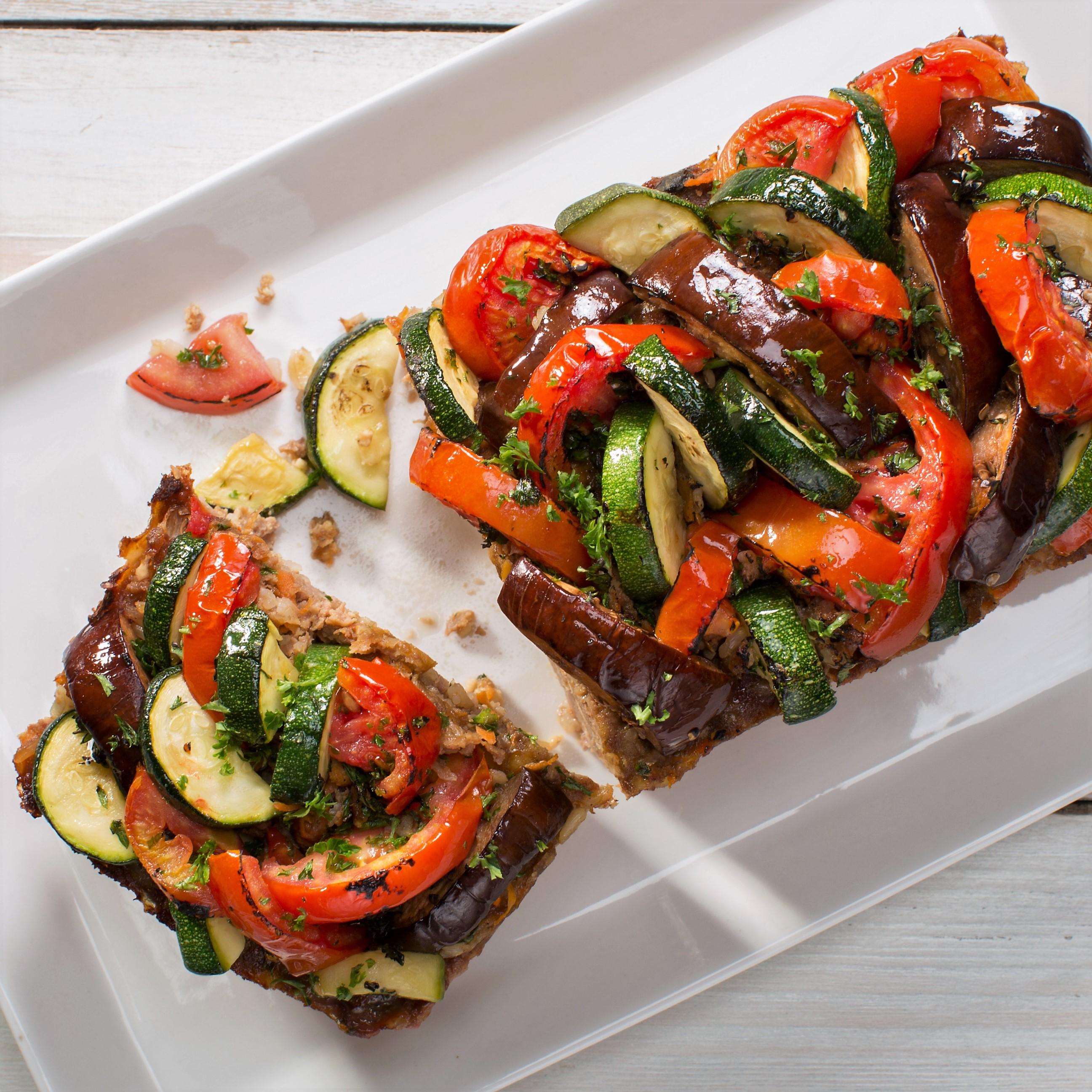 Pastel de Carne con Tope de Verduras