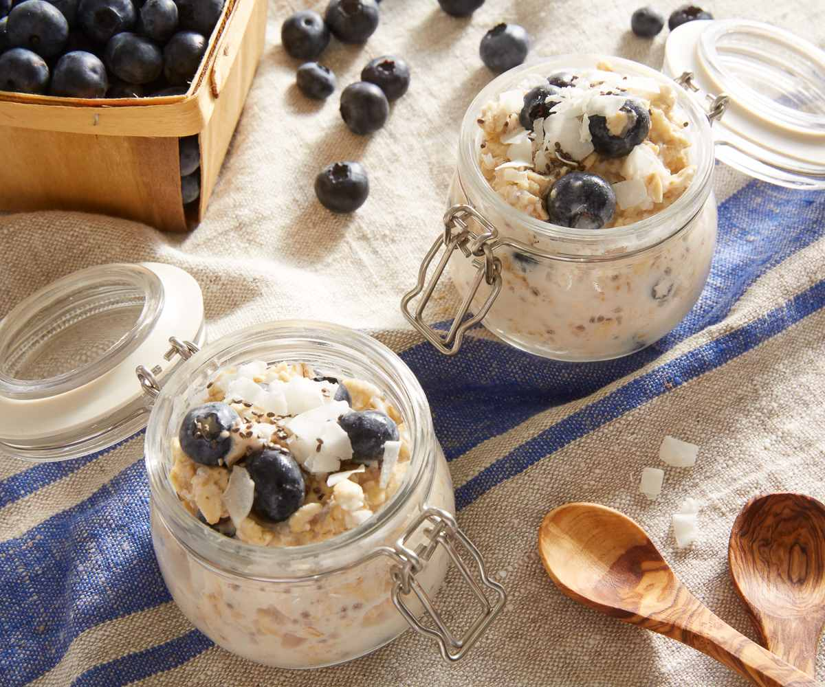 Coconut and Blueberry Overnight Oats