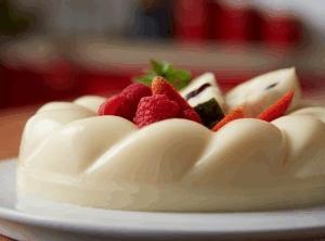 Gelatina de guanábana con yoghurt