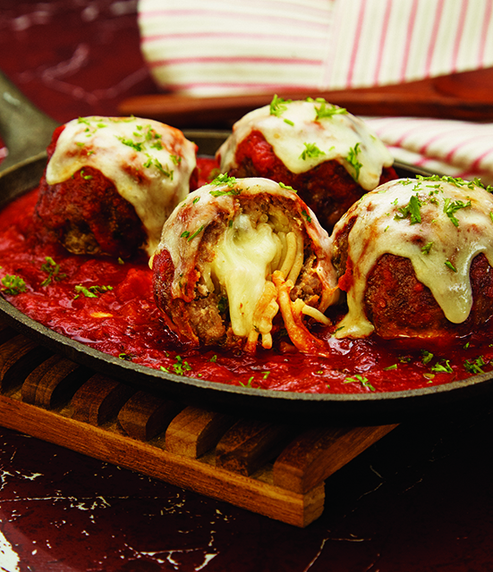 Inside Out Spaghetti and Meatballs