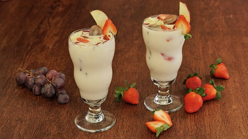 Agua deslactosada de frutas