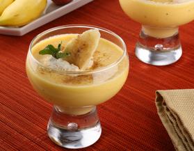 Crema de melocotón y plátano