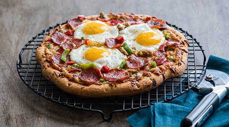 Sunny Side Up Pizza