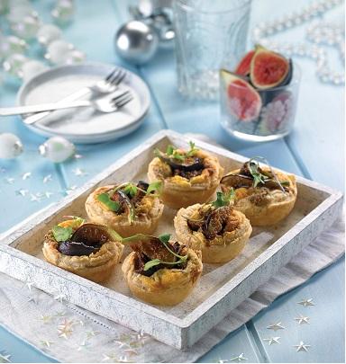 Tartittas de higo y queso azul