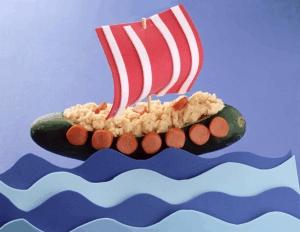 Barcos de puré de papa