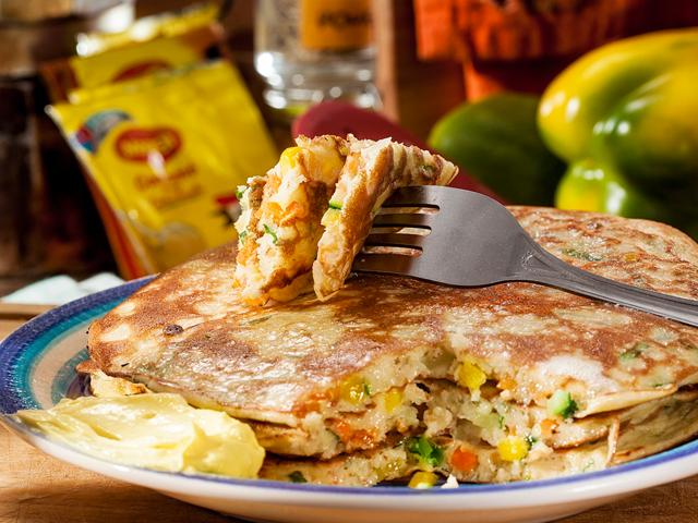 Pancakes con Vegetales