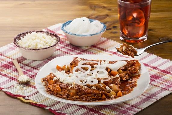 Enchiladas guajillo