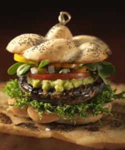 Santa Fe Veggie burger with Heirloom Tomatoes