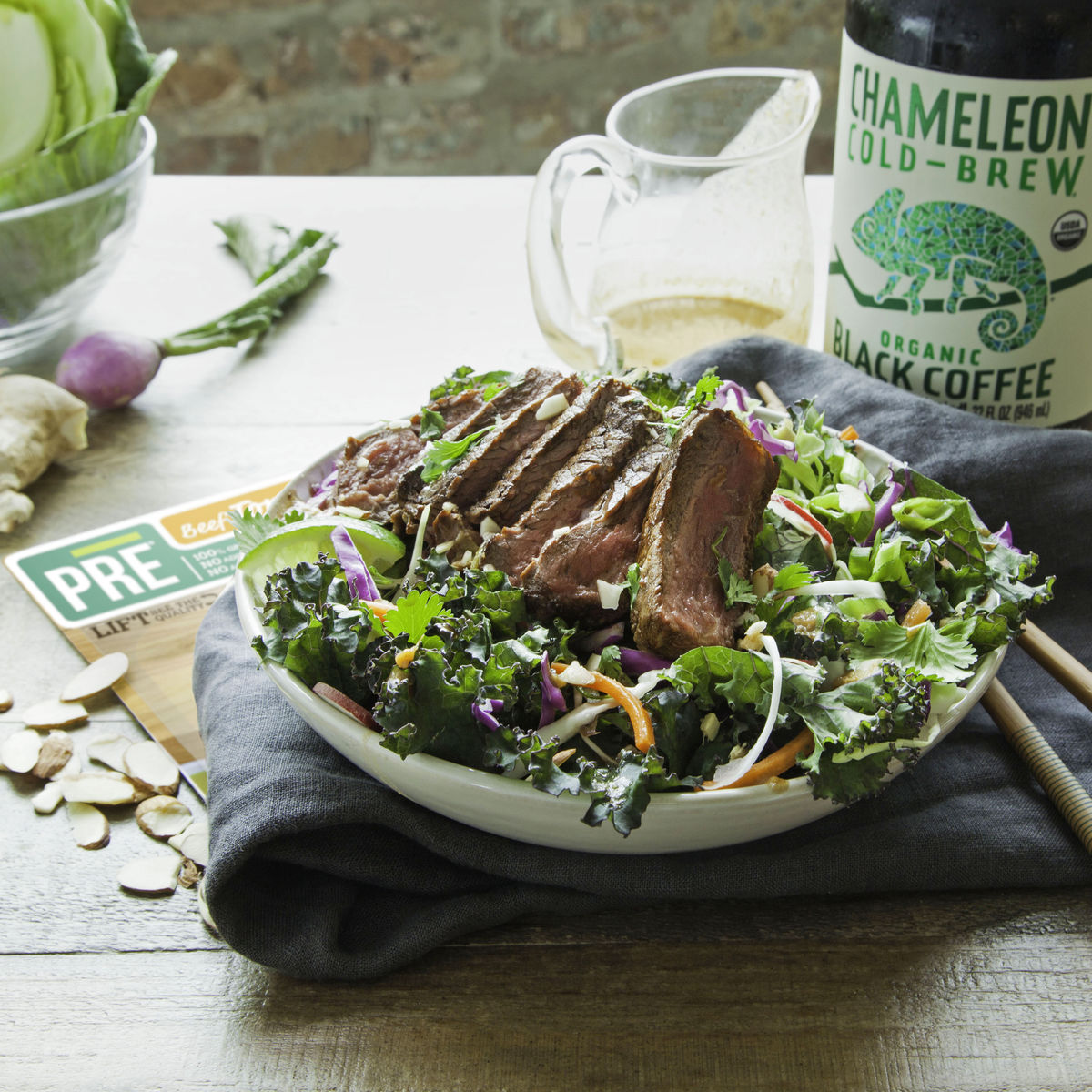 Marinated Steak Salad with Cold Brew Vinaigrette