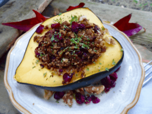 Stuffed squash with quinoa