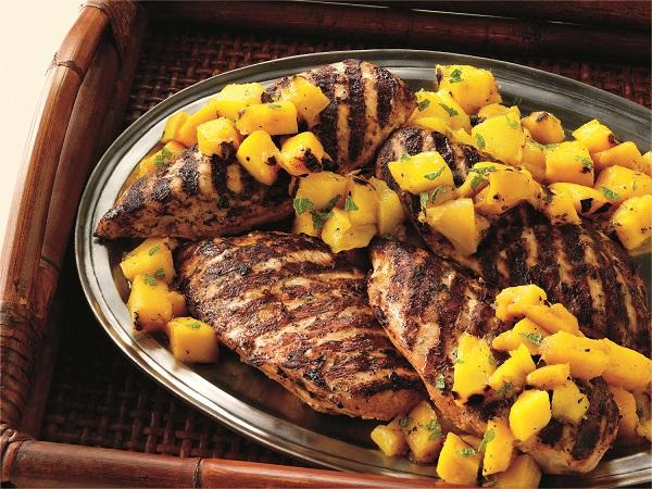 Pechugas de pollo a la tandoori con chutney de mango