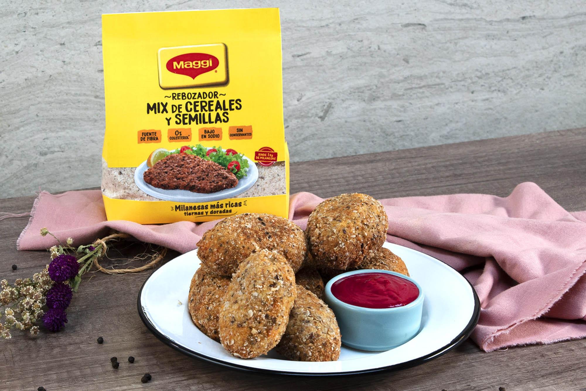 Croquetas express de pollo con alioli de remolacha