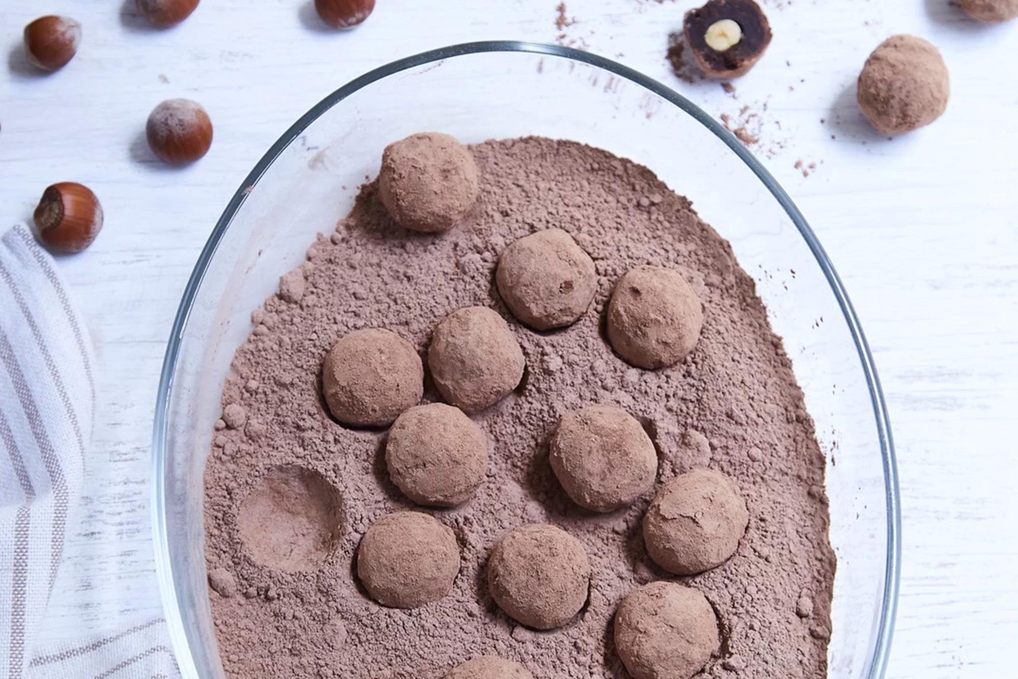 Trufas de Brownie y Avellanas