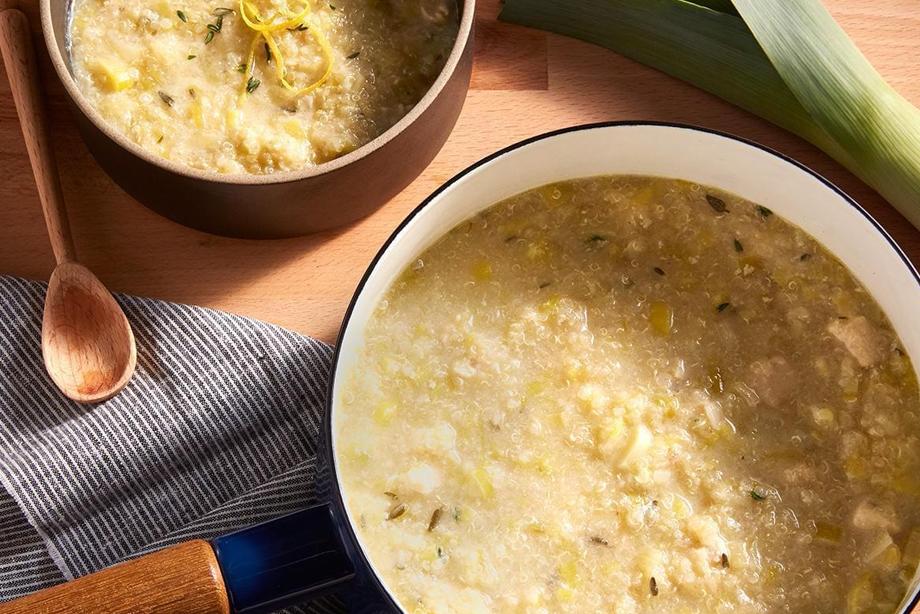 Sopa Griega De Limón, Pollo Y Quinoa