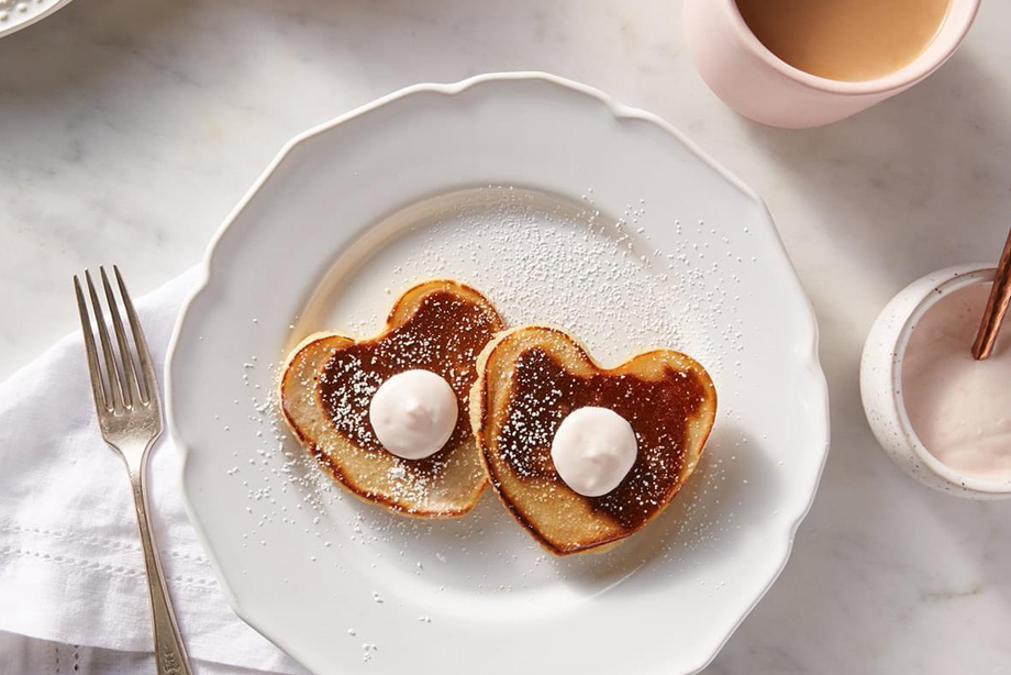 Blood Orange Pancake Hearts