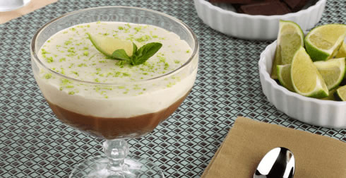 Mousse de chocolate y limón