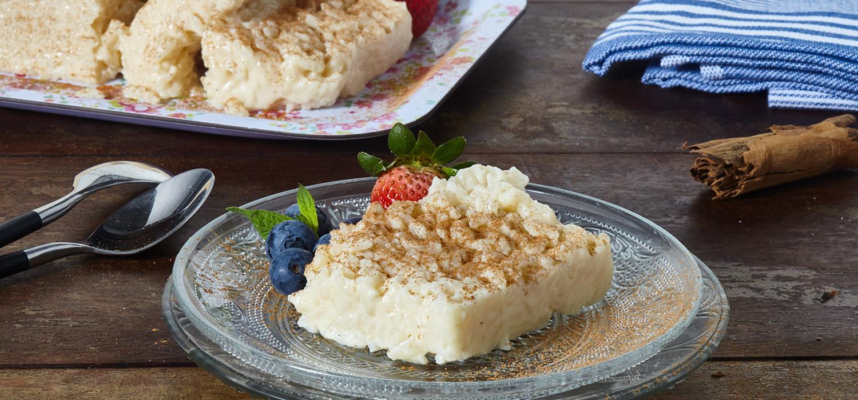 Pastel Frío de Arroz con Leche
