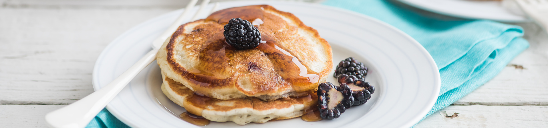 Vanilla Blackberry Pancakes