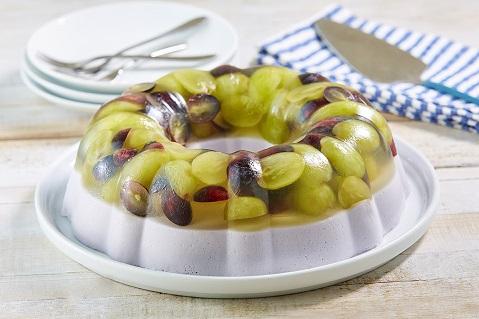 Súper gelatina de uvas