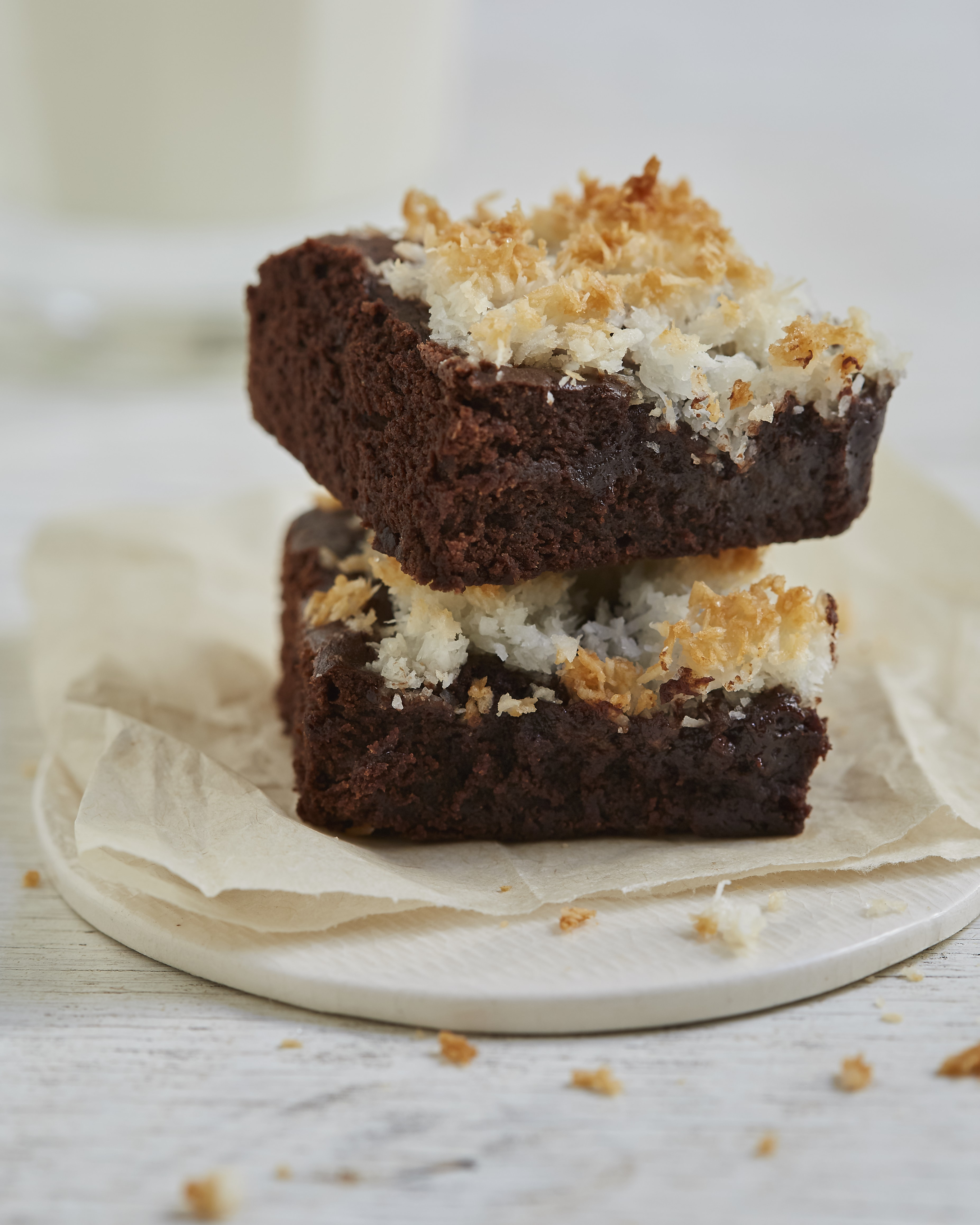 Brownie con coco