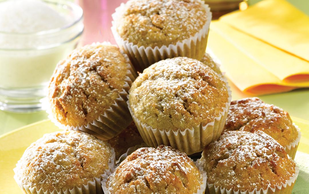 Muffins de Guineo, Coco y Limón