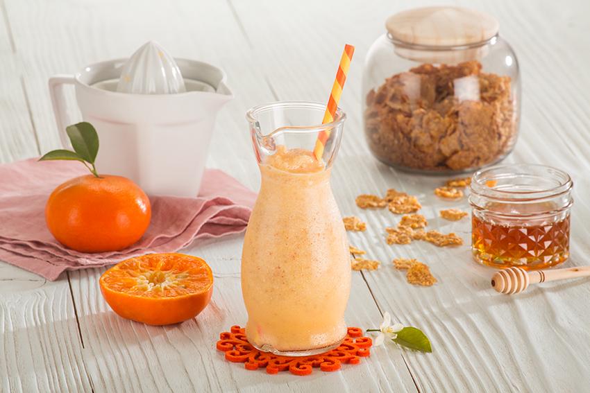 Frappé de mandarina y miel