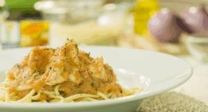 Spaghetti de camarón