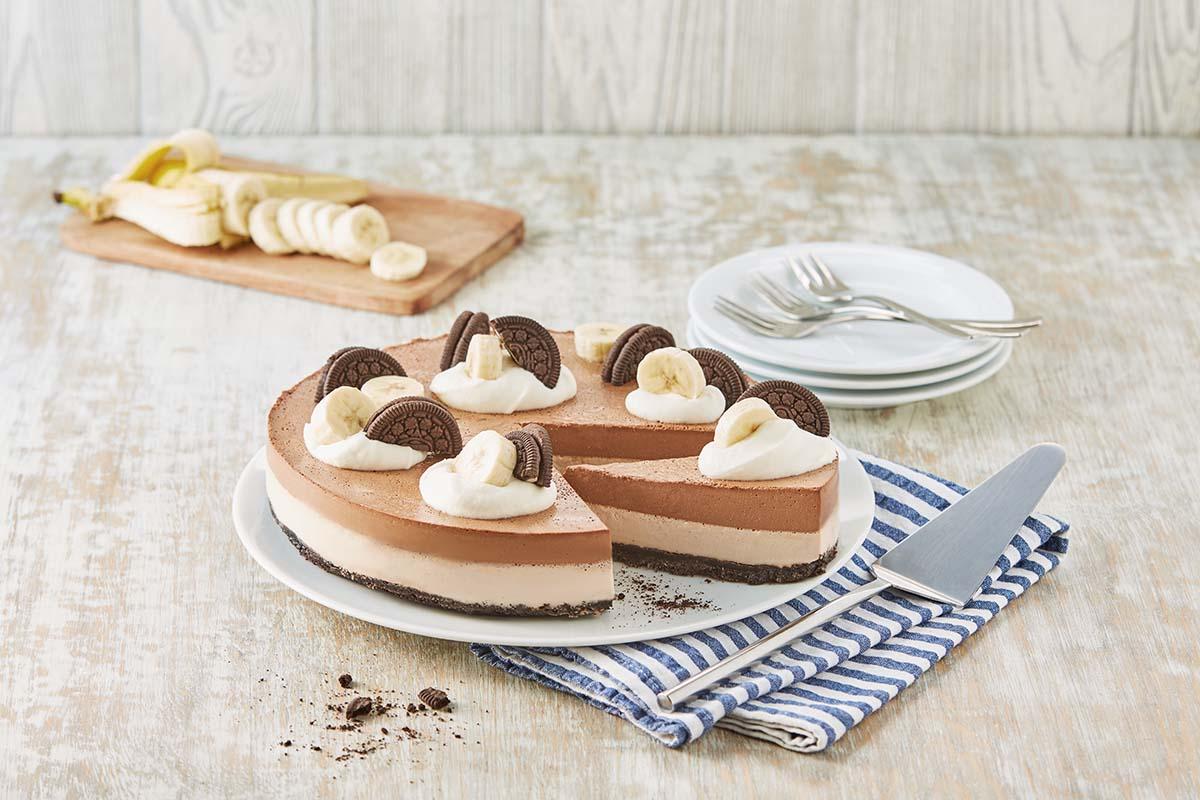 Cheesecake de plátano sin horno