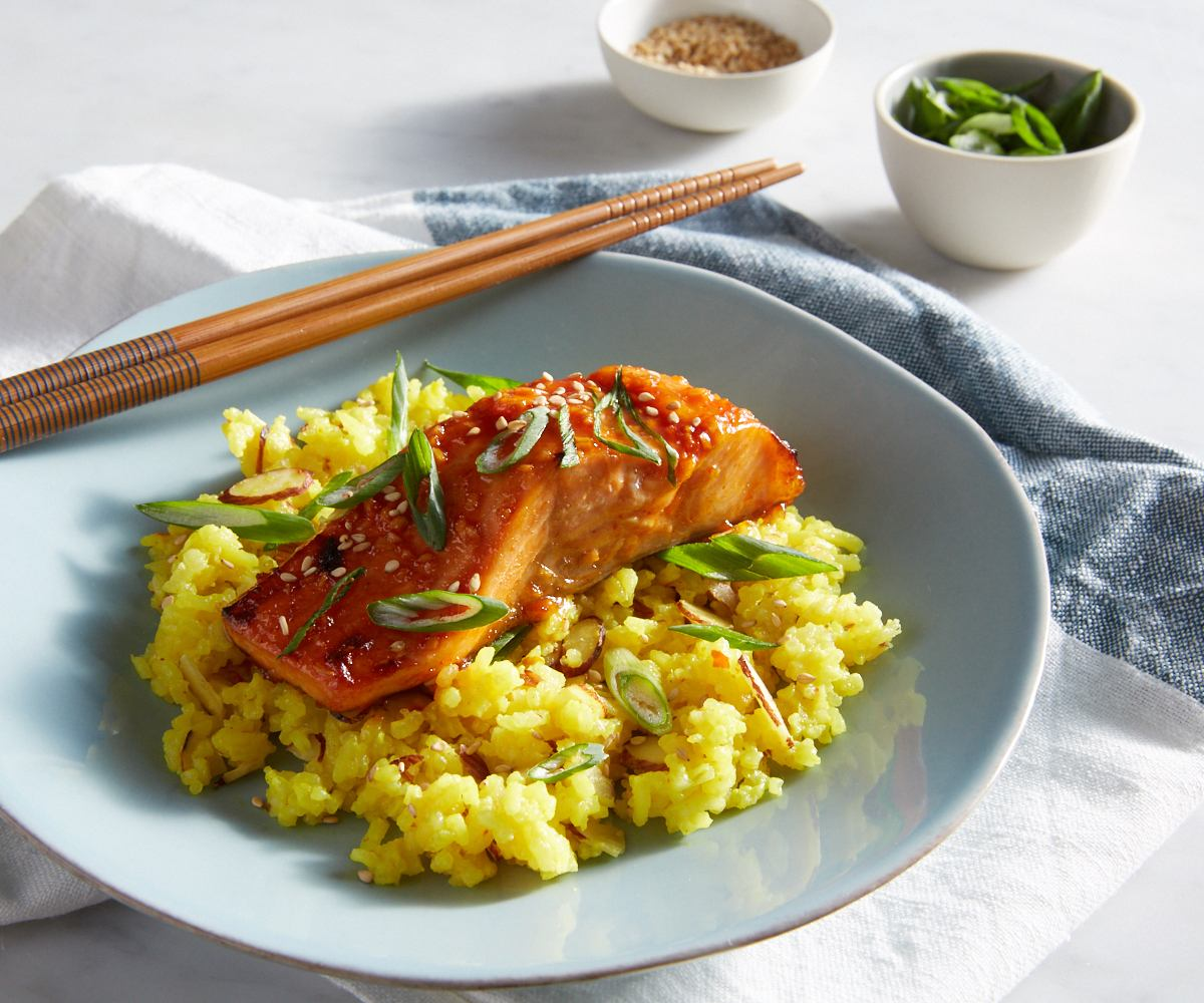 Thai Salmon over Coconut Rice image