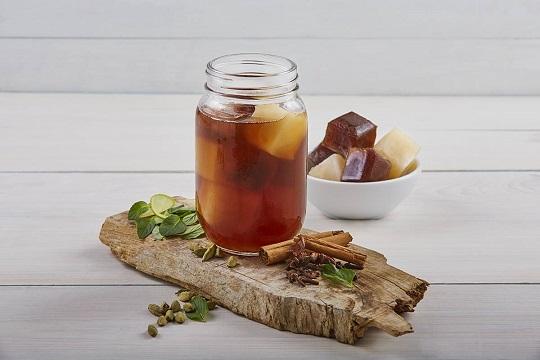 Café helado almendra-chai